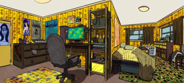 Sagittarius's Bedroom (Concept Art)